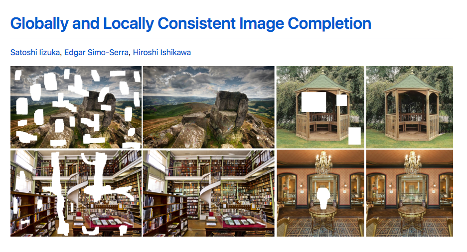 Try image completion model from SIGGRAPH and it was great