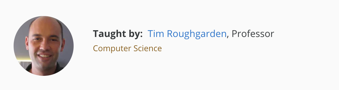 Tim Roughgarden, Professor